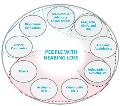 hearing loss research stakeholder graphic